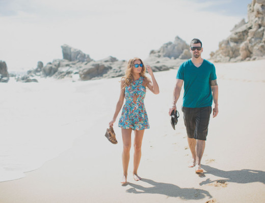 Mat and Lacey on the beach | DitchingNormal