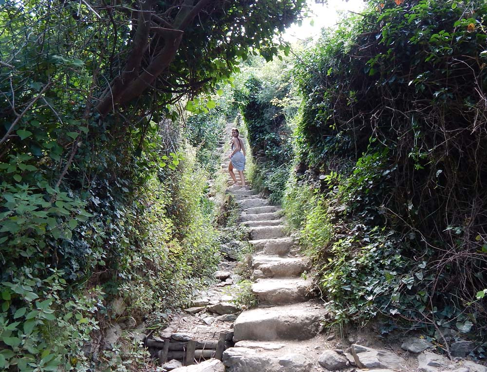 Cobbleston Stairs to Vernazza