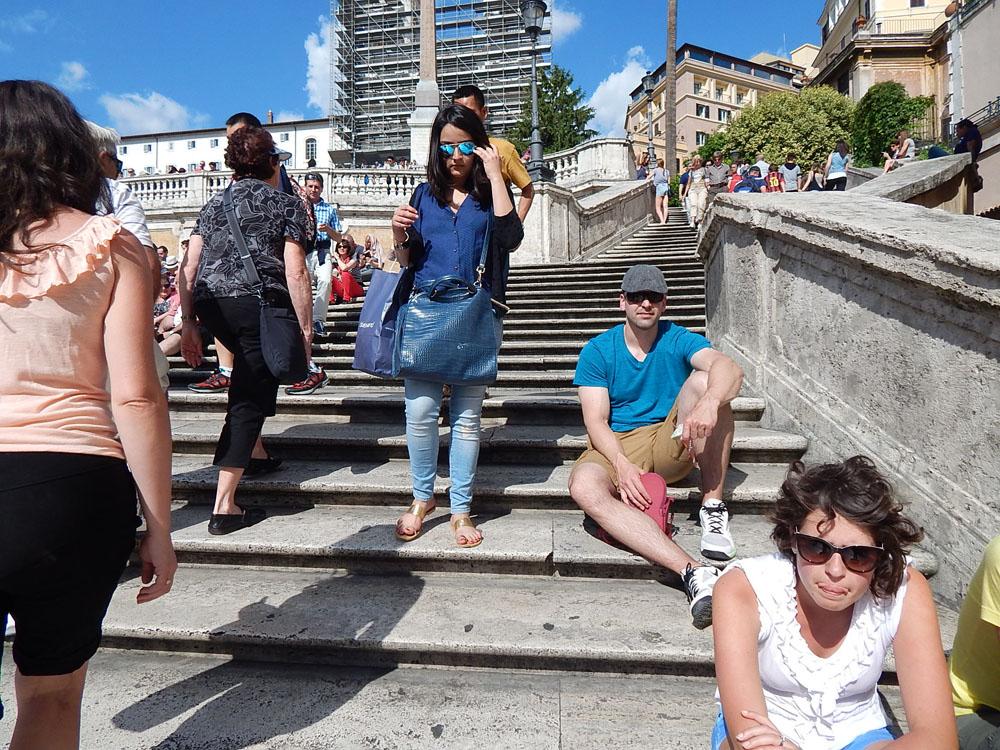 Mat sitting on the Spanish Steps