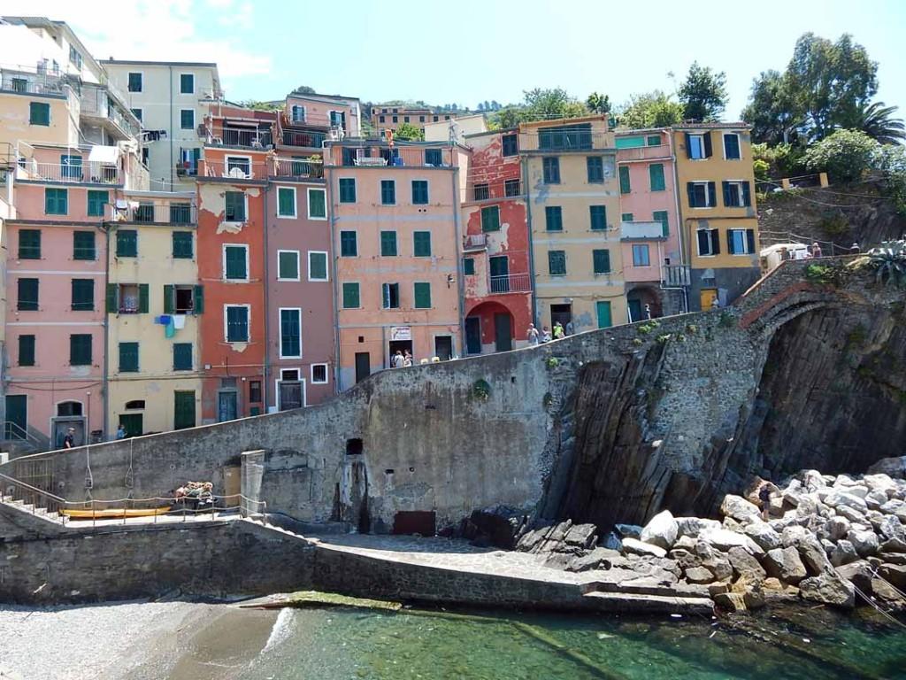 buildings in Riomaggiore, Italy
