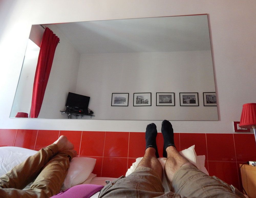 Mat and Lacey elevating feet