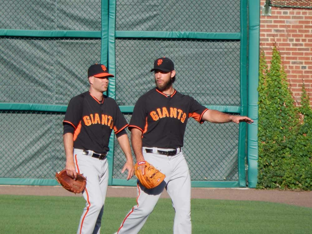 Madison Bumgarner and Tim Hudson