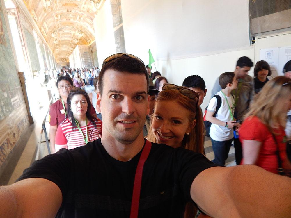 Selfie in the Sistine Chapel