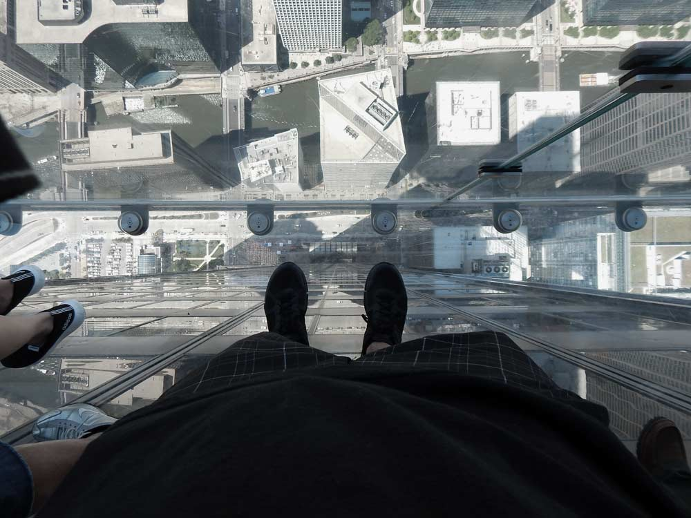 view from the Skydeck Ledge in the Willis Tower, Chicago | DitchingNormal