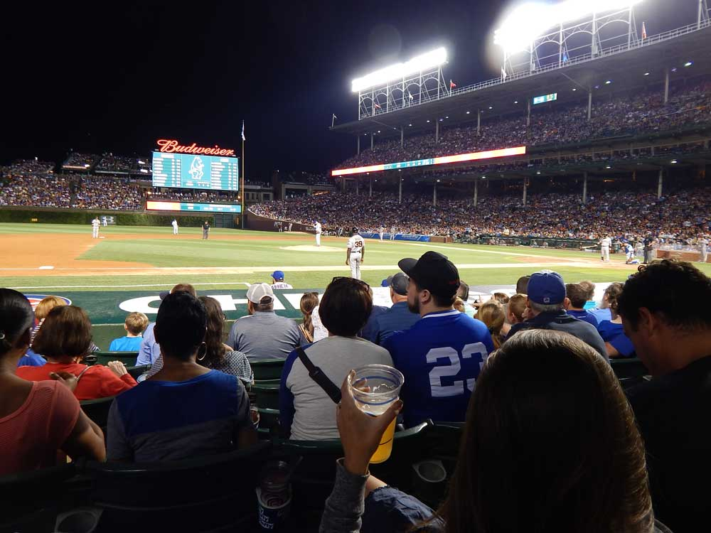 Wrigley Field Night Game