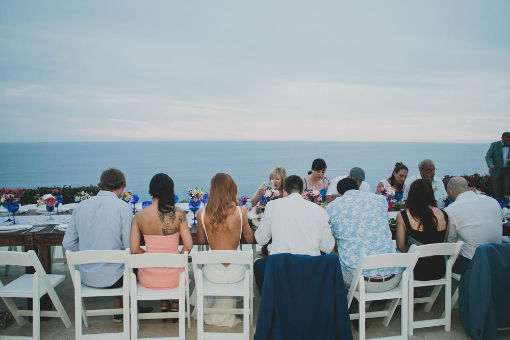 Wedding Dinner View Cabo   Ditching Normal