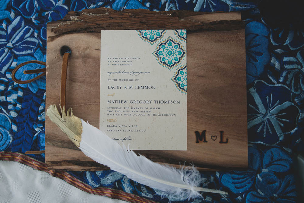 Wedding Invitation Cabo   Ditching Normal