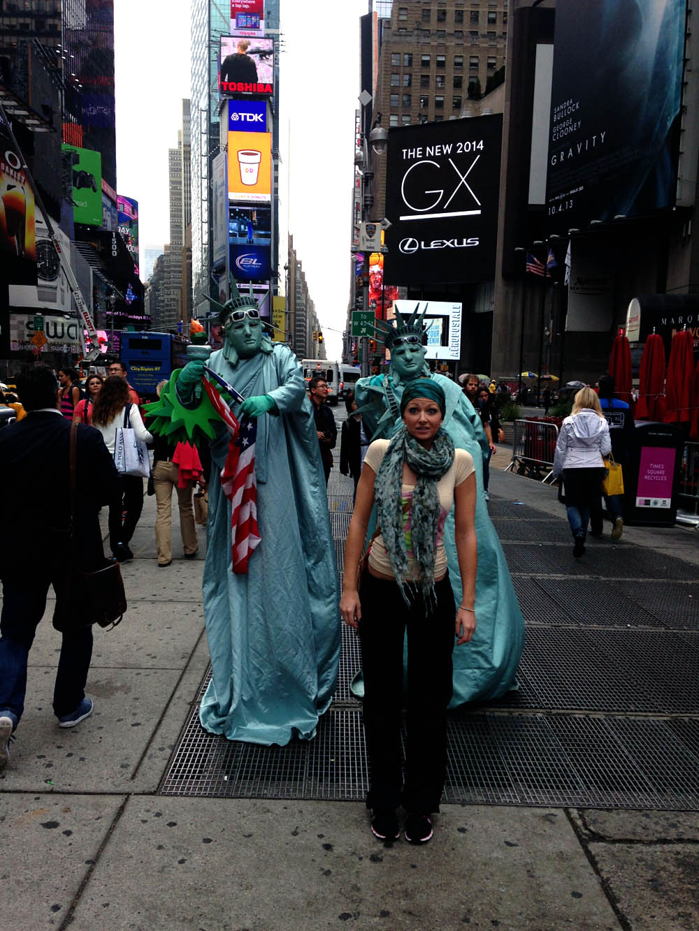 Lacey in Time Square