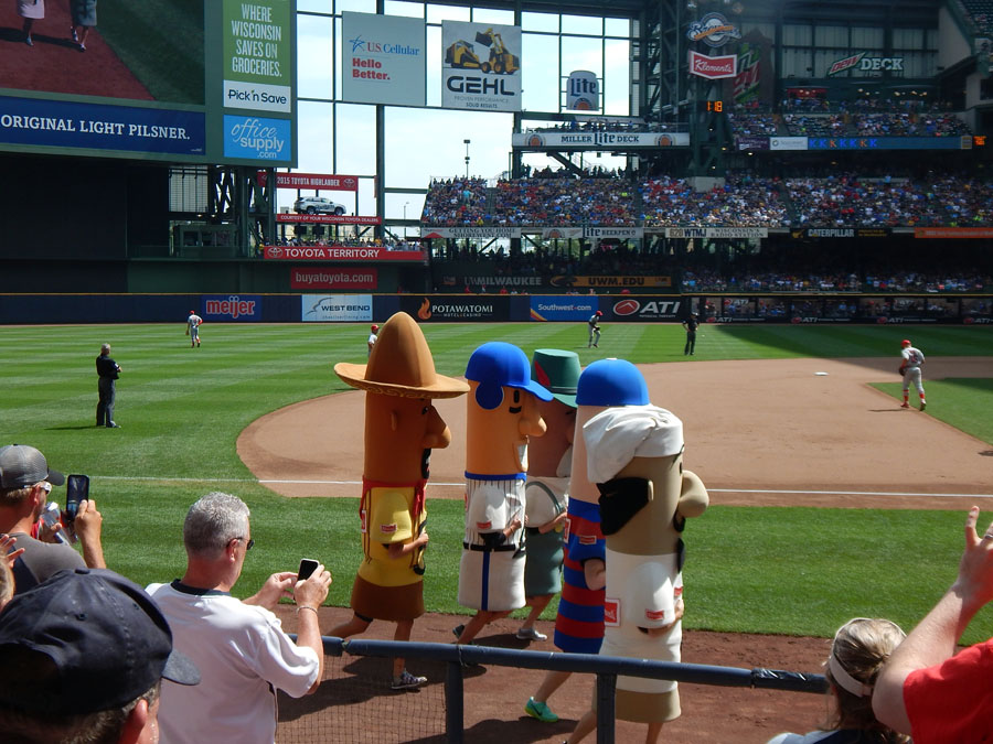 Sausage Race. Miller Park, Milwaukee