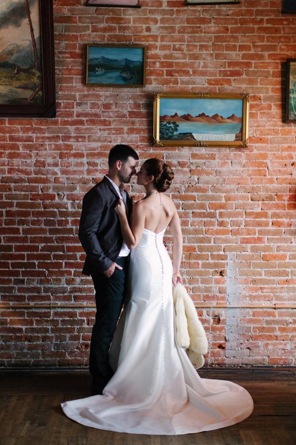 Bride and Groom Vintage Kiss