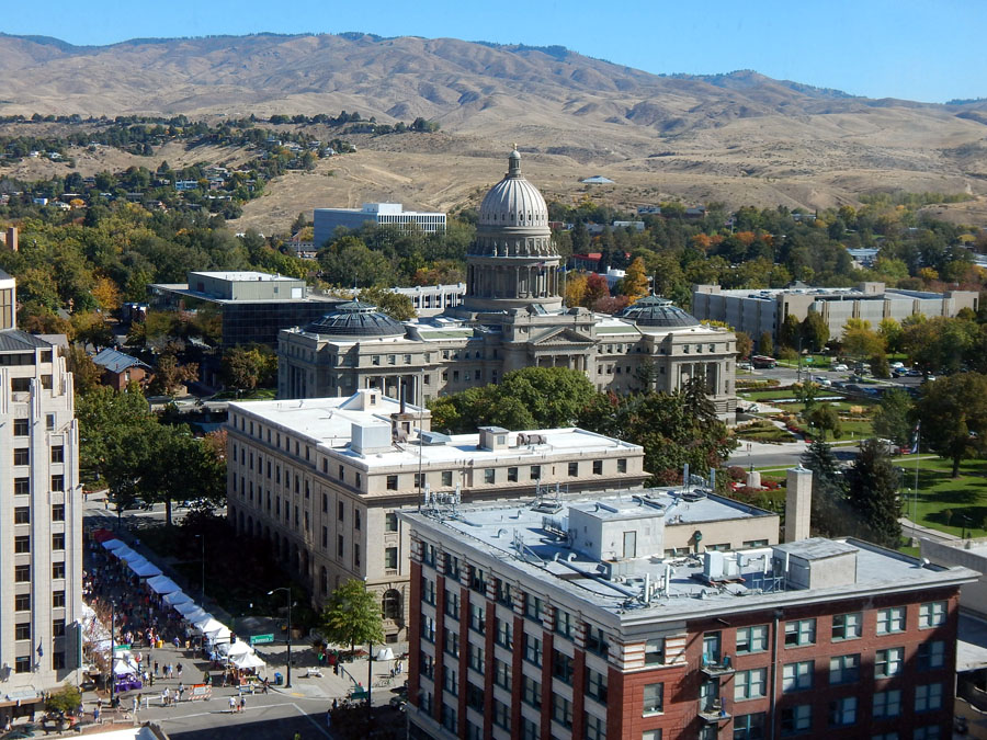 Capital Building and Farmer's Market in downtown Boise