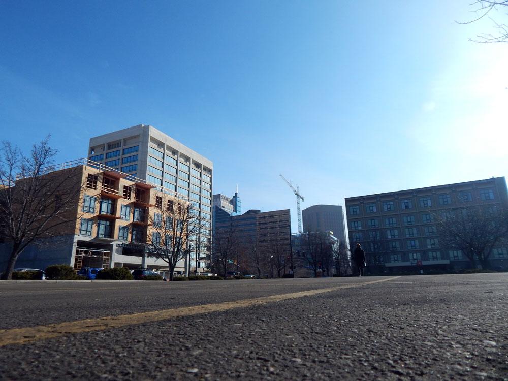 Empty Street in downtown Boise