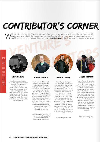 Venture Meridian Magazine April 2016