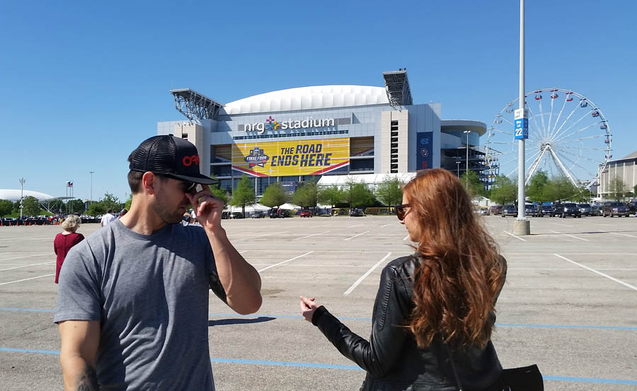 NRG Stadium Parking lot Final Four 2016