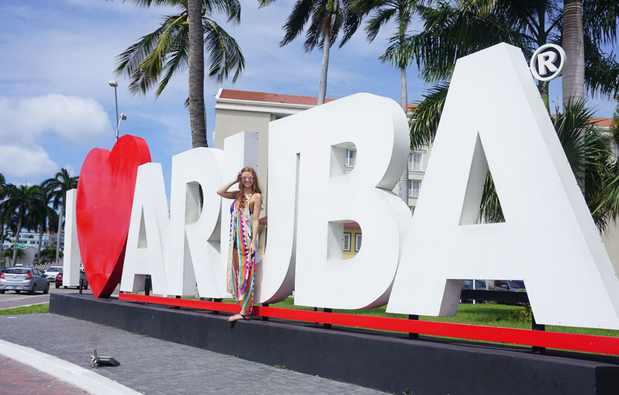 I heart Aruba Sign