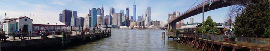 Manhattan Brooklyn Bridge panoramic