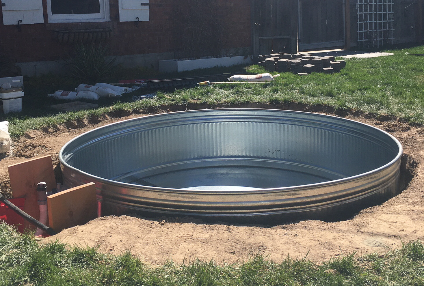 In Ground Stock Tank Pool And Hot Tub Ditching Normal