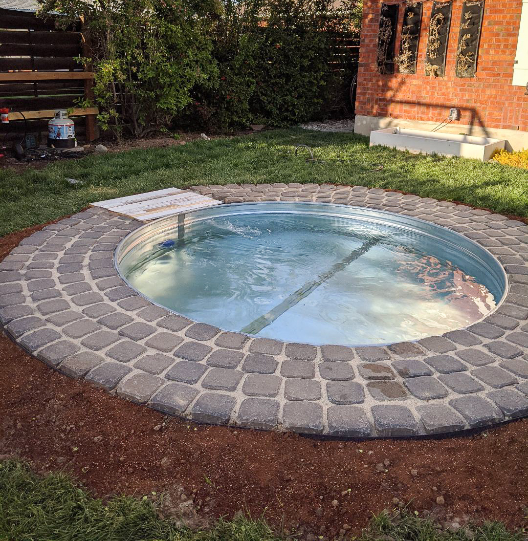 In-Ground Stock Tank Pool and Hot Tub